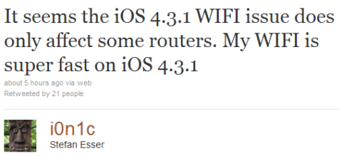 WiFi Problem After 4.3.1 jailbreak Fixed