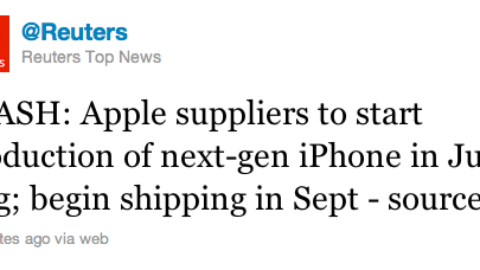 Apple's iPhone 5 will have a faster processor and will begin shipping in September