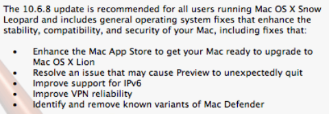 10.6.8 Will Get Mac App Store Ready for Lion, Remove Mac Defender