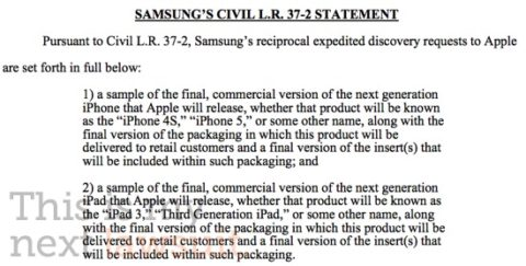 iPhone 5 and iPad 3: Samsung's Lawyers Ask Apple To See Their prototypes