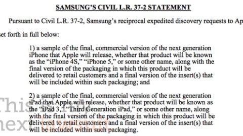 Samsung Needs To See iPhone 5 and iPad 3