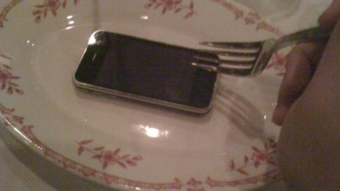 Don't Force Any One To Eat An iPhone !