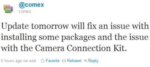 Comex Will Update JailbreakMe Tomorrow to Fix Camera Connection Kit Issue