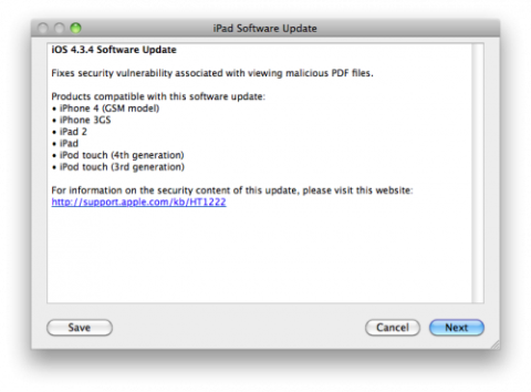 iOS 4.3.4 Is Released To Fix PDF Security Hole