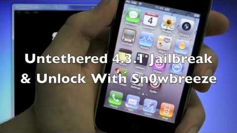 How To Jailbreak 4.3.1 Untethered Sn0wbreeze 2.5 iPhone 4, 3GS / iPod Touch 4G, 3G / iPad (Windows)