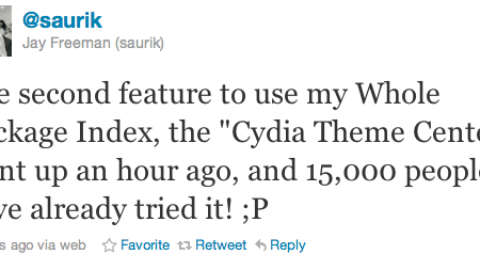 """Cydia has been updated with it's second feature name as """"Cydia Theme Center"""""""