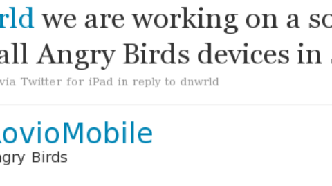 Angry Birds Sync coming before summer !
