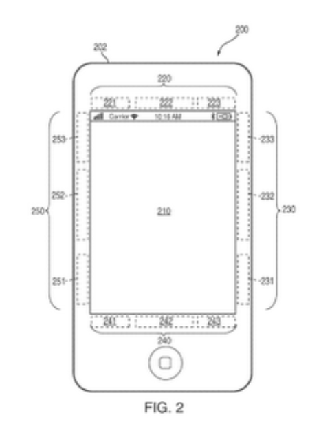 Apple patent hints at bezel displays for iPhone