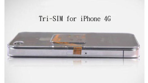 Tri-SIM Card Adaptor for iPhone 4