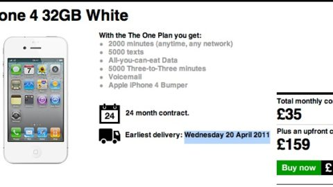 White iPhone 4 available for oder, delivers on April 20th