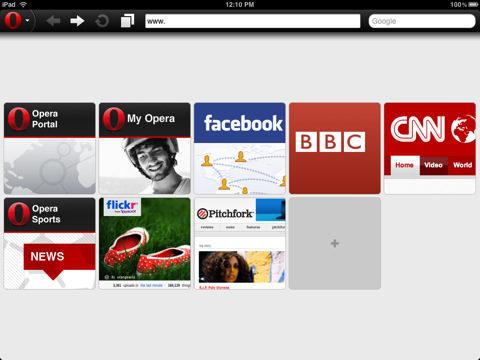iPad users Get Opera Mini Web Browser