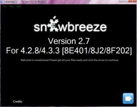 Download Sn0wbreeze 2.7 To Jailbreak iOS 4.3.2