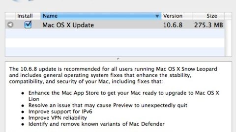 Apple Released Mac OS X 10.6.8 – Download Now