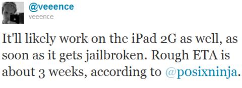 iPad 2 Jailbreak Is Not GreenPois0n