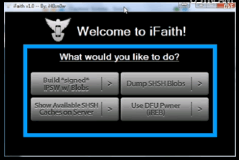 Download iFaith To Save SHSH Blobs Dumper [ iPhone, iPod Touch, iPad ]