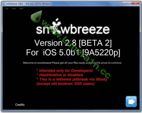 How to Jailbreak iOS 5 Untethered  – iPhone 3GS – Sn0wbreeze 2.8 b2