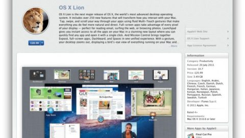 OS X Lion Is Available On Mac App Store
