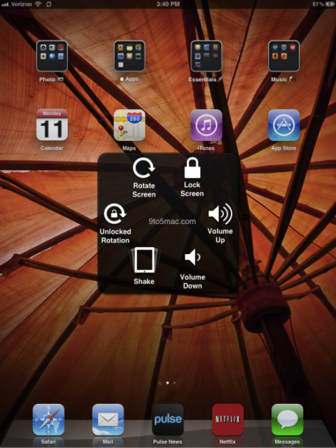 """iOS5 Beta 3 Introduces Virtual Button called """"Assistive Touch"""" [Video]"""