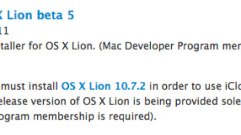 iCloud Beta 5 Relesed For OS X Lion 10.7.2