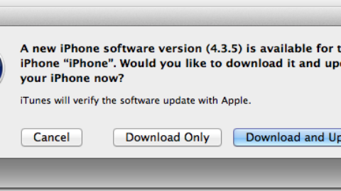 iOS 4.3.5 Released To Solve A Security Issue