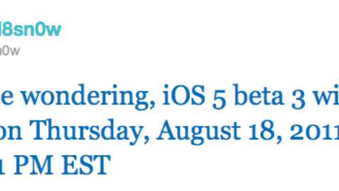 iOS 5 Beta 3 is Set To Expire on August 18, 2011