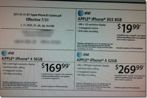 iPhone 3GS, 4 Prices Expected To Be Cut July 31st