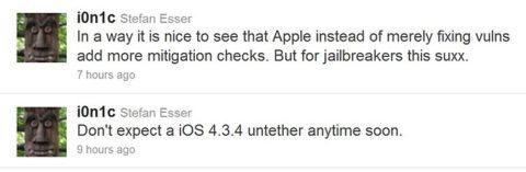 iOS 4.3.4 Untether Jailbreak Will Not Come Soon