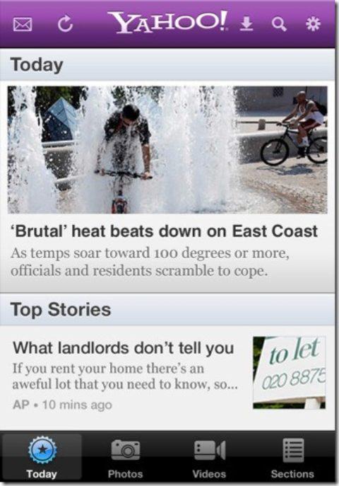 Yahoo iPhone App Got Updated