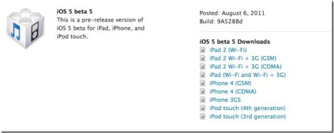 iOS 5 Beta 5 Released